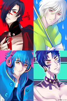 DRAMAtical Murder doodles by pershun