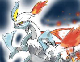 Pokemon White 2: White Kyurem by Blue-Candy-Wolf