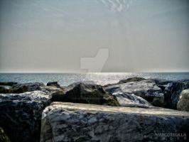 Rocks, sea, and the Horizon No.2 by Ragnarokkr79