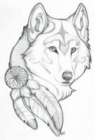 Wolf Tattoo Design by devonrex551