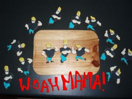 WOAH MAMA Johnny Bravo cookies by inner-etch