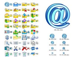 Email Icon Set by Ikont