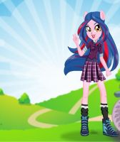 Indigo Zap School Outfit by kimpossiblelove