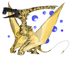 Flying Reptile by ToxicKittyCat