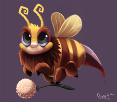 Day 3 - Bloody Bee by Cryptid-Creations