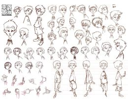 Xiaobao character sketches by Wardyworks
