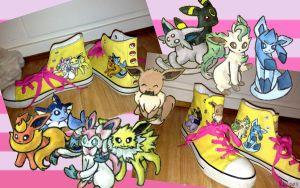 Eeveelutions converse by nadiki