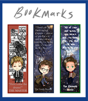 Doctor Who Bookmarks by ohboyomi