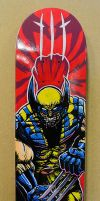 Wolverine skateboard by MikkeSWE