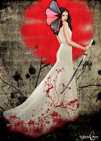 The bloody sword butterfly by Myria-Moon by Myria-Moon
