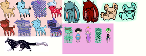 Random old adopts that never sold :D CLOSED by DiscoCake