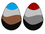 Coy and Dracana's eggs by JFPierre