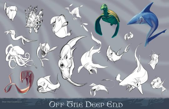 Creatures of The Deep by DragonicDarkness