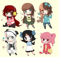 ADOPTABLE CHIBI GIRLS -CLOSED- by Ayuki-Shura-Nyan