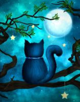 Kitty in the Tree by Morague
