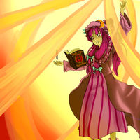 Old drawing - Touhou - Patchouli Knowledge by Buronka