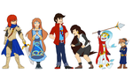 Commission 12: Character line-up by sugarbubblegum333