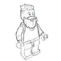 Lego caricature gif by junfender