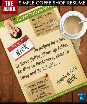 Simple Coffee Shop Resume by TheAlikA