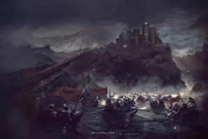 Towards the Dark Castle by Nele-Diel