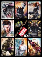 Glebe Marvel 3D Cards by Twynsunz