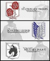 Shingeki no Kyojin- Group Factions by Sushi4love