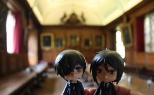 Ciel and Sebastian in the Hall. by Melkpso