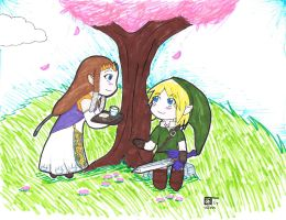 Link and Zelda (Request) by HaroPetCreatorLT
