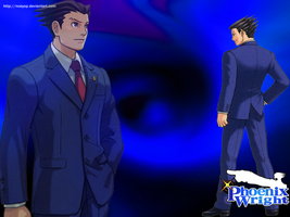 Wallpaper Phoenix Wright by Noeyop