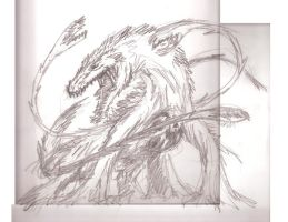 Biollante sketch by hypergojira