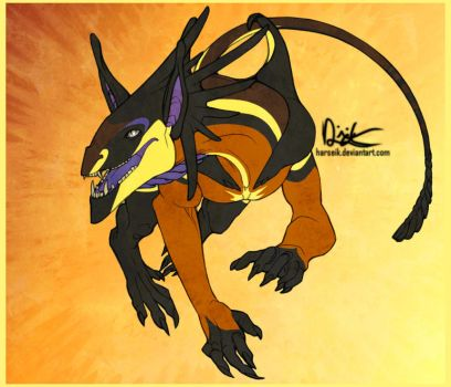 Ollow Dragonoid Concept by Harseik