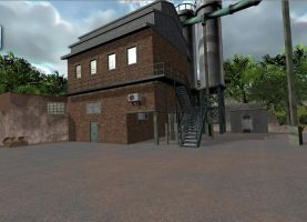 Factory Building 3D by Tomoffell
