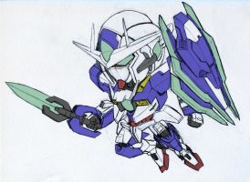 Gundam 00Q by biomonkz