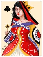 Queen of Clubs by Jodee
