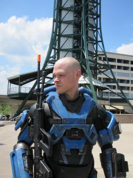 Halo cosplay. Mjolnir armor MK5 A pic 3 by philorion7