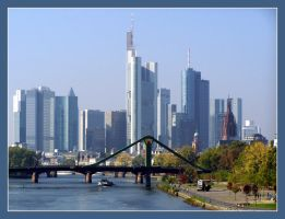 Frankfurt Skyline by day by kine80