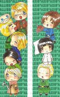Hetalia Bookmarks by sirenlovesyou