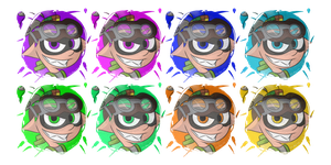 (Splatoon) Male Inklings by GenoTheCreeper