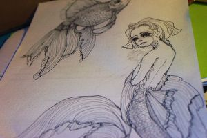 Veiled Goldfish by WickedHearts4Lyph