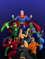 JLA the big seven by El-Mono-Cromatico