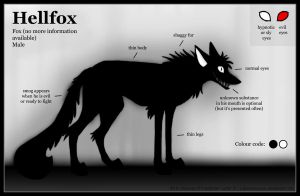 Hellfox reference sheet by VulpesObscurus