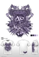 purple deviant tshirt by jml2art