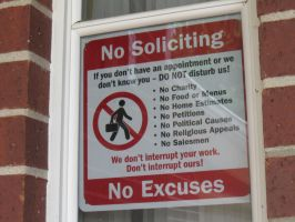 No Soliciting! by CoolerTHEMANPLZ