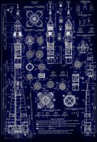 R-7 Soyuz Rocket Blueprints by ShadowSpetsnaz
