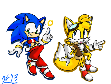Gender-Bender: Sonic n' Tails by ArtisyOne