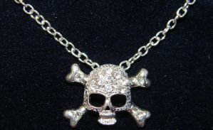 Crystal Silver Jolly Roger by FantasyStock