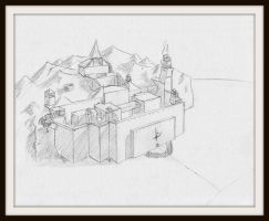 Concept Art: Wilderness Citadel by Radiance-Eternal