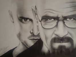 Breaking Bad (Collab Drawing) by JustinEugene