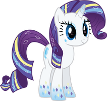 Rainbow Power Rarity Vector by icantunloveyou