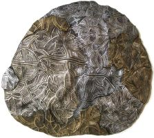 Dreamtime - Ceramic Discus 1A by ArtGenEeRing
